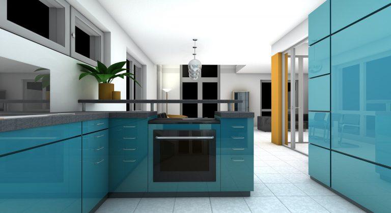 Cuisine en 3D pour un logement neuf